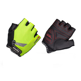 GripGrab ProGel Hi-Vis Short Cycling Gloves Fluo Yellow